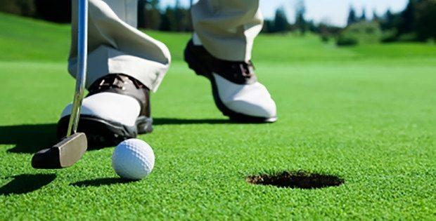 close up of golf putter