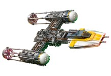 Star Wars Lego Y Wing Set Side View Flying 2
