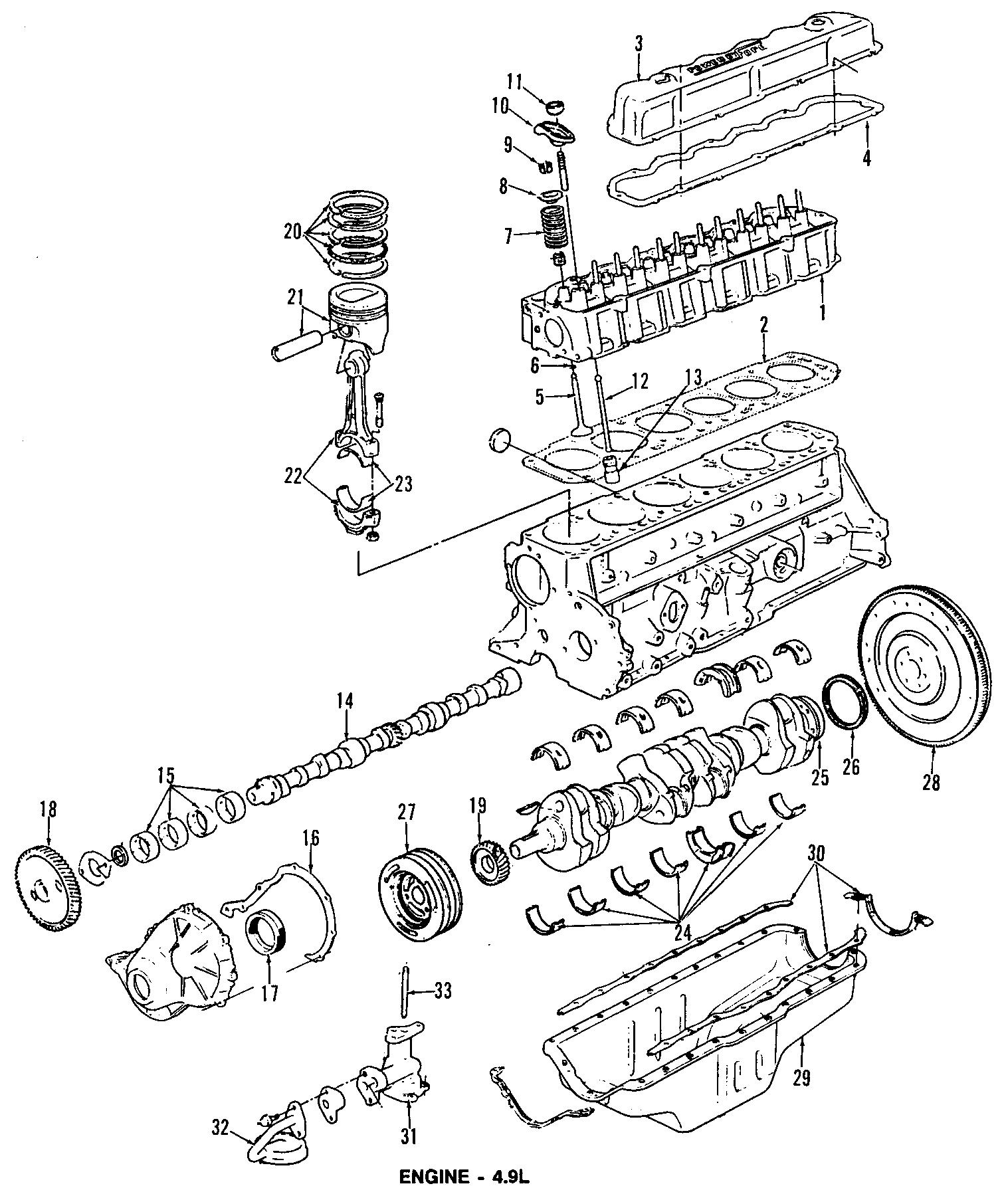 Ford E 150 Econoline Engine Crankshaft Seal Rear Vans