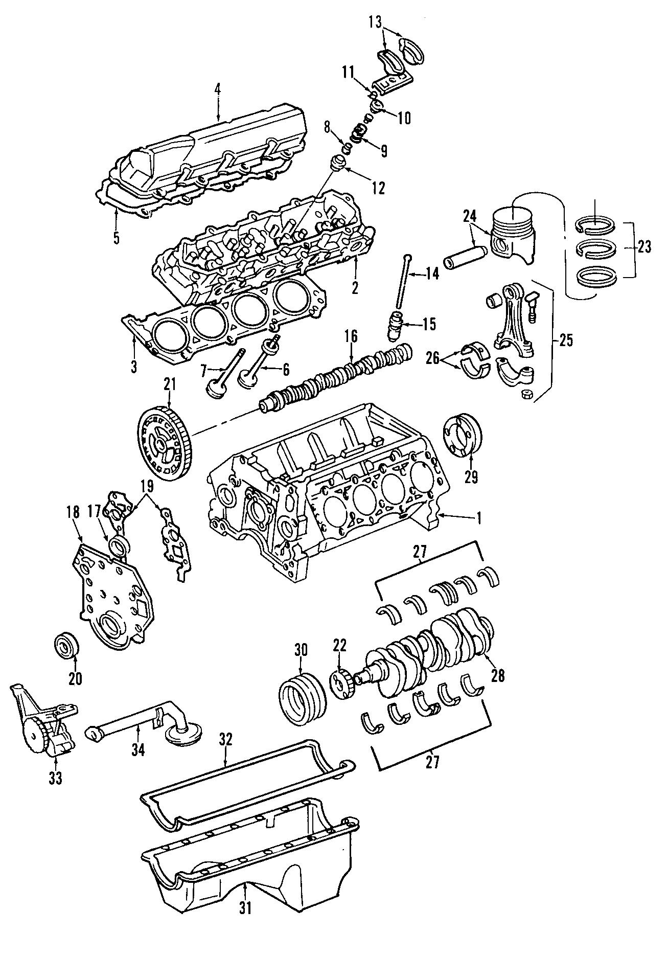 Ford F 350 Super Duty Engine Crankshaft Main Bearing