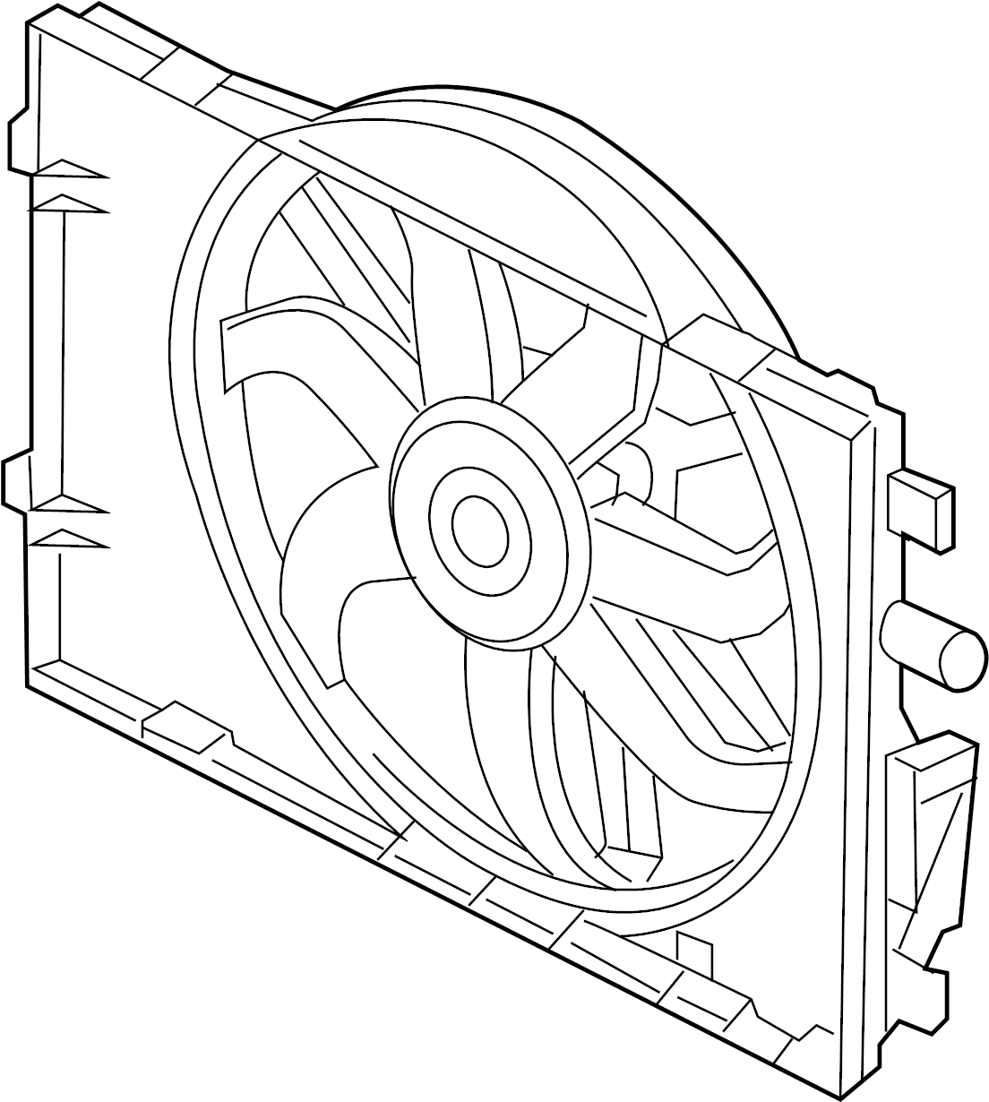 Mercury Sable Engine Cooling Fan Assembly