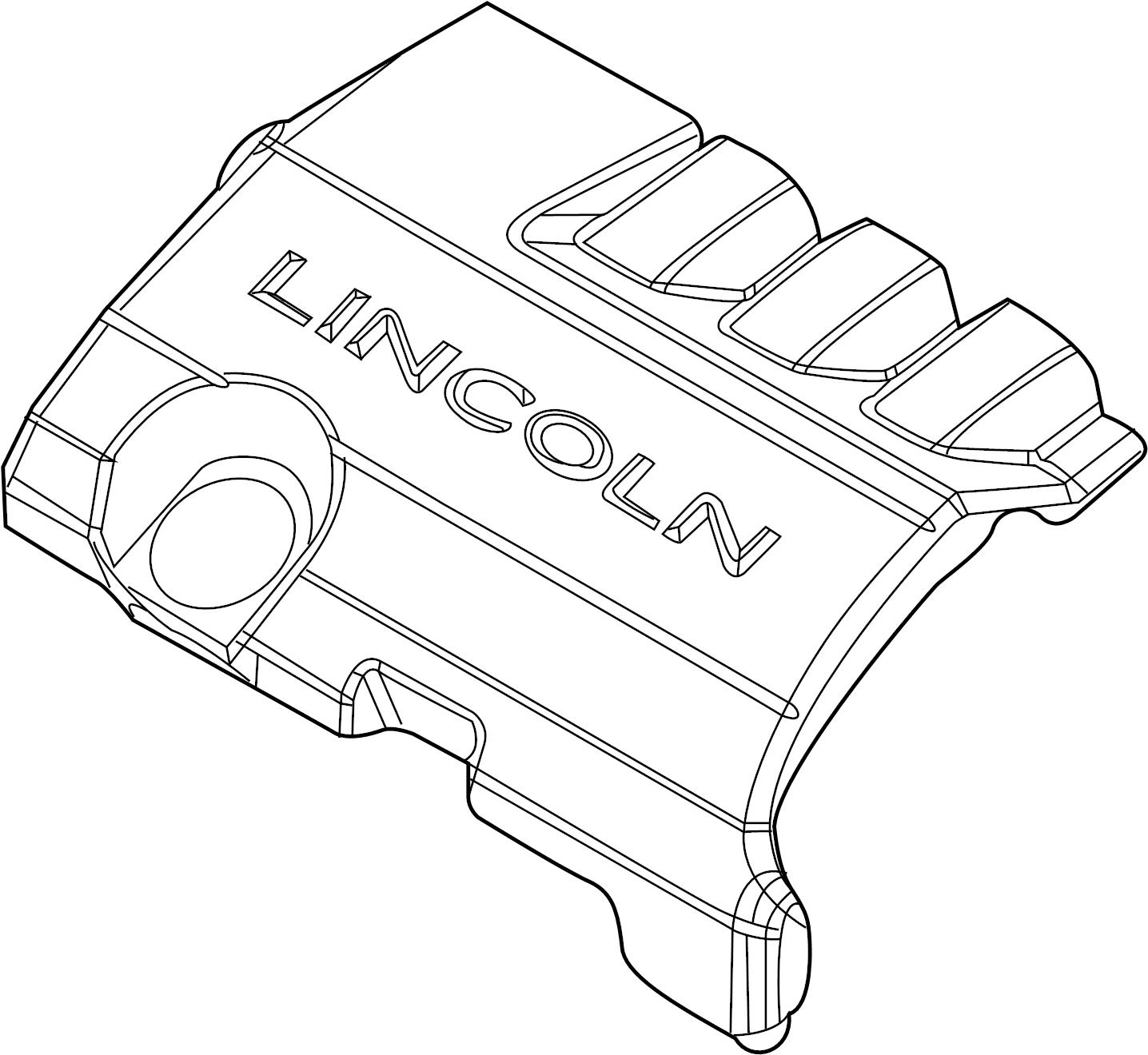 Lincoln Mks Engine Cover 3 7 Liter 3 7 Liter 16