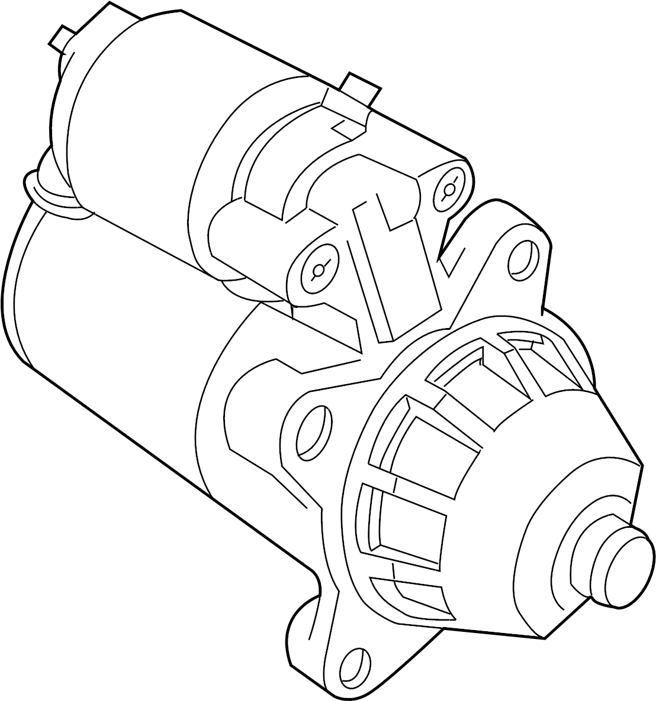 Ford F 350 Super Duty Starter Motor Wgas