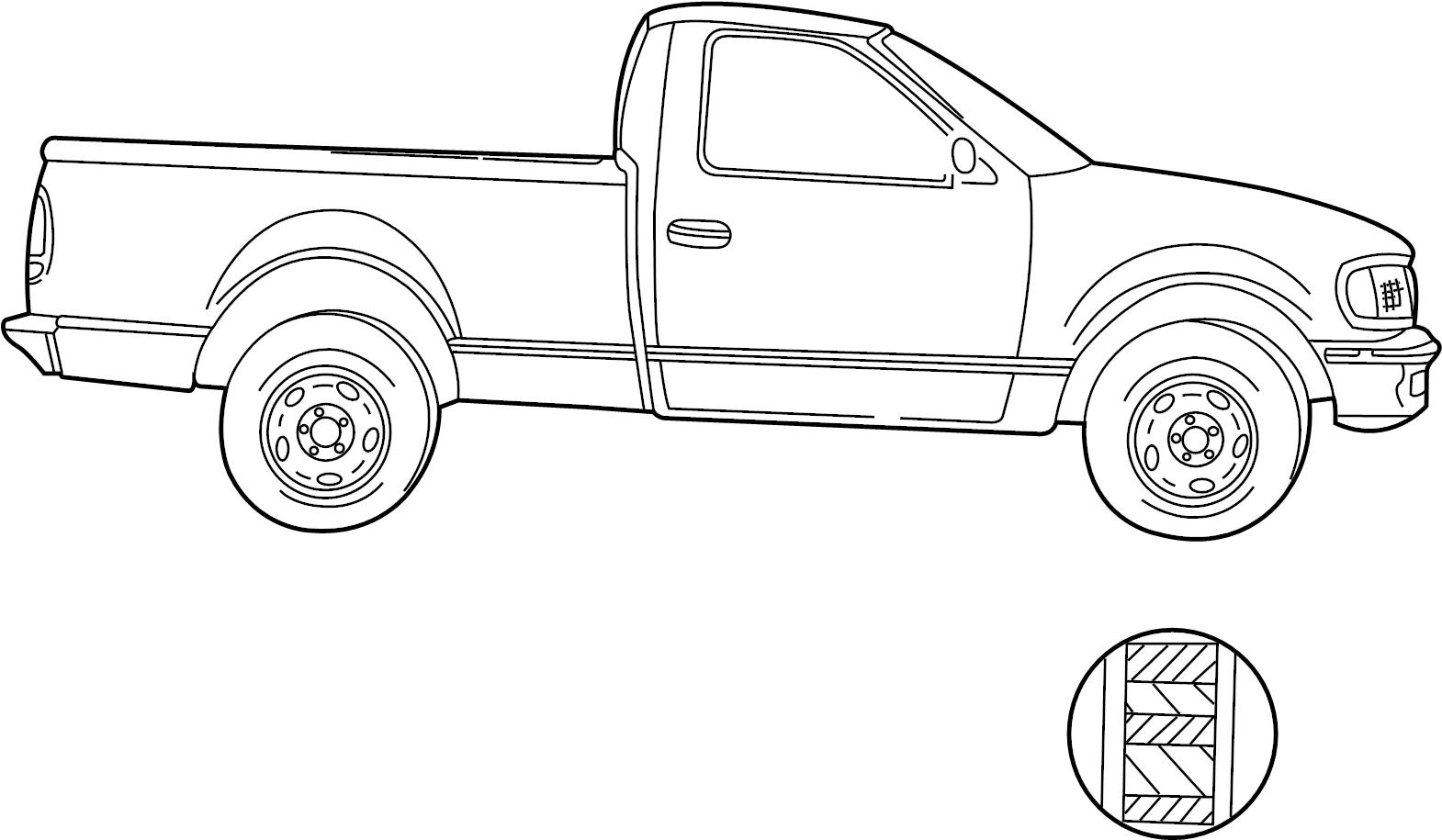 Ford F 150 Trim Stripe Tape 2wd Xl Amp Xlt 2wd 6 1 2