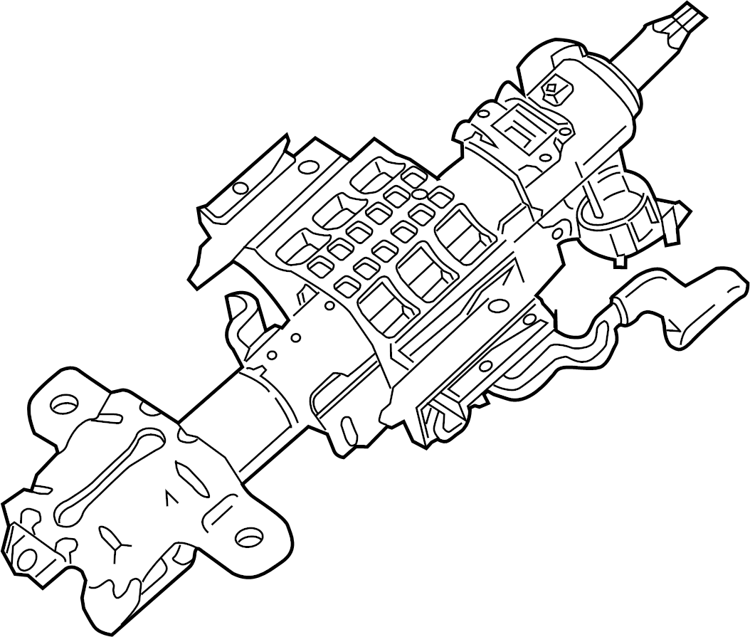 Ford F 450 Super Duty Steering Column Column Assembly