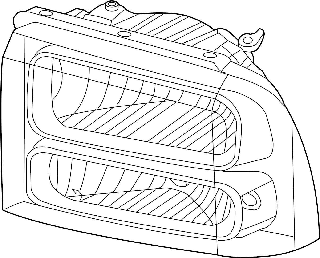 Ford F 350 Super Duty Headlight Right Aero Body