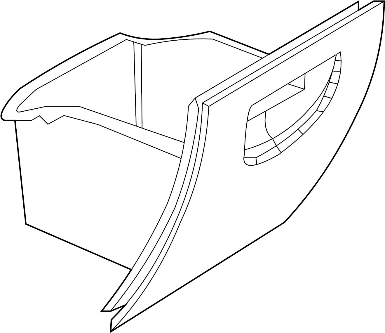 Lincoln Aviator Glove Box Door Sandstone