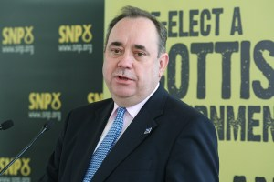 Alex Salmond at athe launch of his 2011 manifesto calling for an independence referendum.