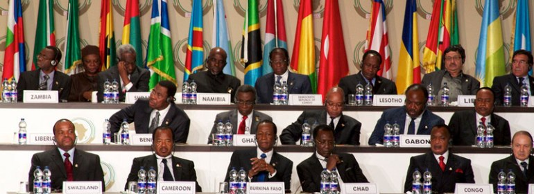 African Heads of State at the summit held in Malabo, Equatorial Guinea 2011.