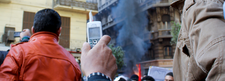 Mobile phones and social media have become integral when reporting on the Arab Spring.