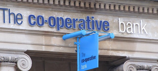 The co-operative bank has been downgraded by Moody's