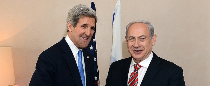 Secretary of State John Kerry meet with PM Benjamin Netanyahu, at the David Citadel Hotel Jerusalem April 9, 2013