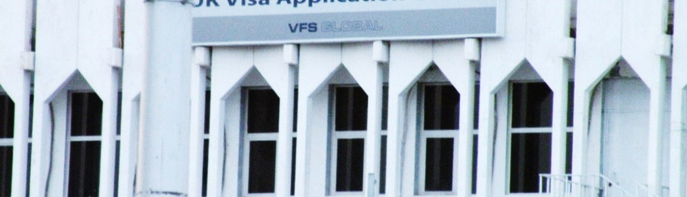 A UK Visa application office in Kuwait