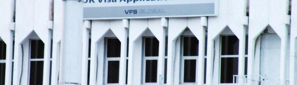 A UK Visa application office in Kuwait