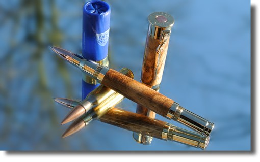 Shotgun Cartridge Pen made from Sweet Chestnut wood