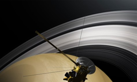 Cassini Saturn space probe