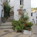 Street in Casares a white village in Spain