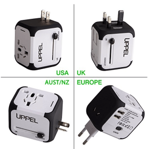 All in One Universal travel plug adapter UK AU EU