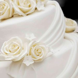 Elegant Wedding Cakes Archives     The French Gourmet Elegant Wedding Cake with Swirls and Roses