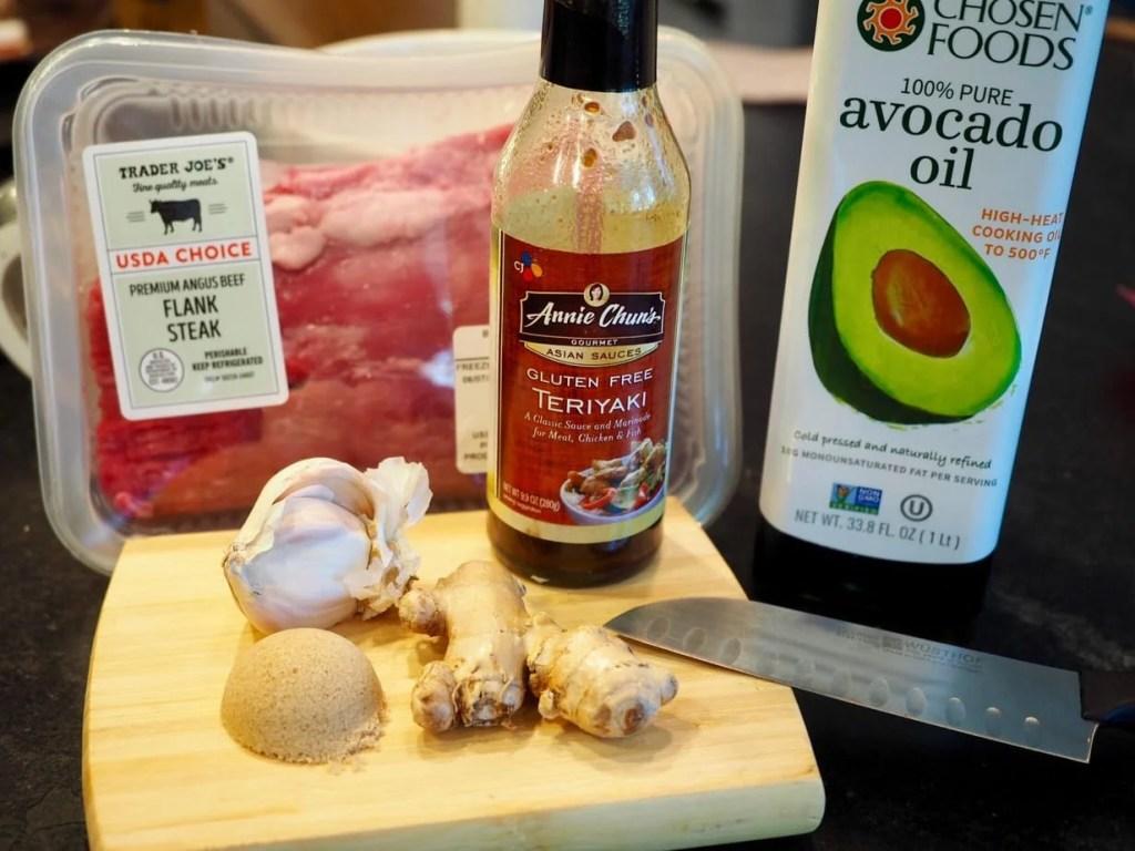 Easy Flank Steak Marinade Ingredients | www.thefreshcooky.com