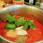 Seriously, the BEST! This Spaghetti Sauce recipe has been passed down from my restaurant owning, Italian Grandpa! Loaded with San Marzano tomatoes, roasted garlic, fresh basil, and other herbs and spices. Make it today, use it over pasta, meatball subs, lasagna or for calzone dipping! #thefreshcooky #spaghettisauce #pasta #homemade #best