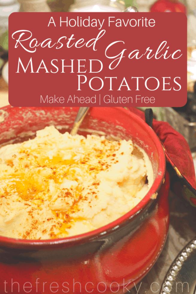 Roasted Garlic Mashed Potatoes | www.thefreshcooky.com