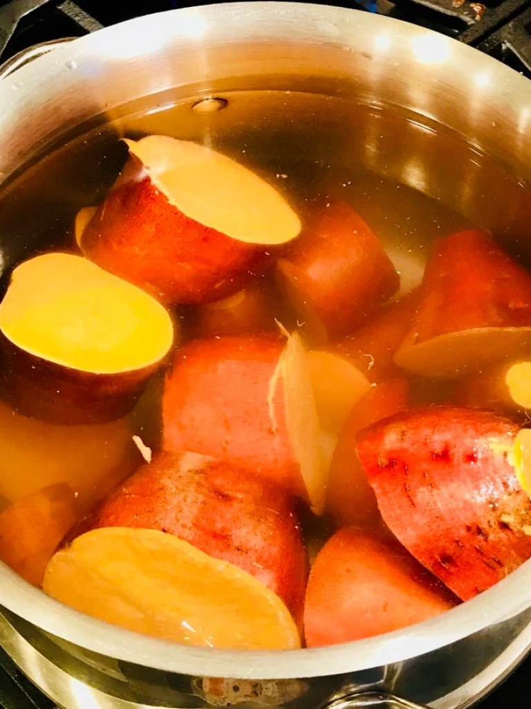 Yams potted   Thanksgiving Praline Yams