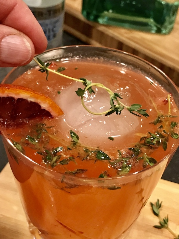 Blood Orange, Tangerine, Thyme Gin & Tonic | www.thefreshcooky.com #ginandtonic #bloodorange #thyme #cocktails