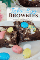 Robin Egg Whopper Fudge Brownies | www.thefreshcooky.com