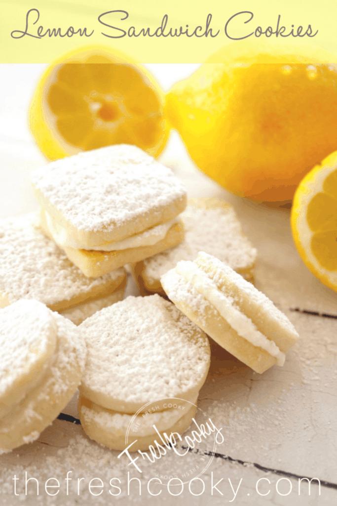 Lemon Sandwich Cookies | www.thefreshcooky.com