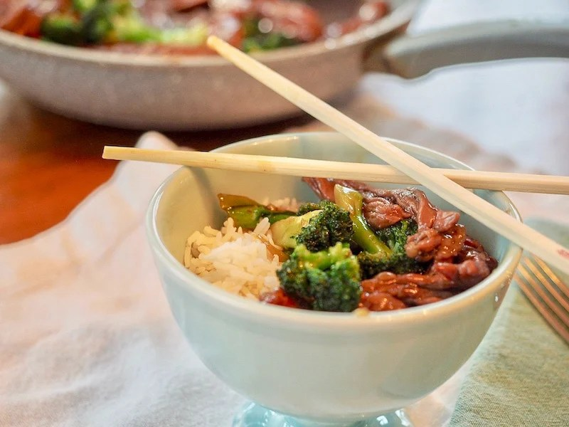 Beef & Broccoli 30 minute Meal | www.thefreshcooky.com #beef&broccoli #30minutemeal #weeknightmeals #whatsfordinner