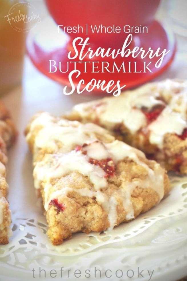 Strawberry Buttermilk Scones | www.thefreshcooky.com
