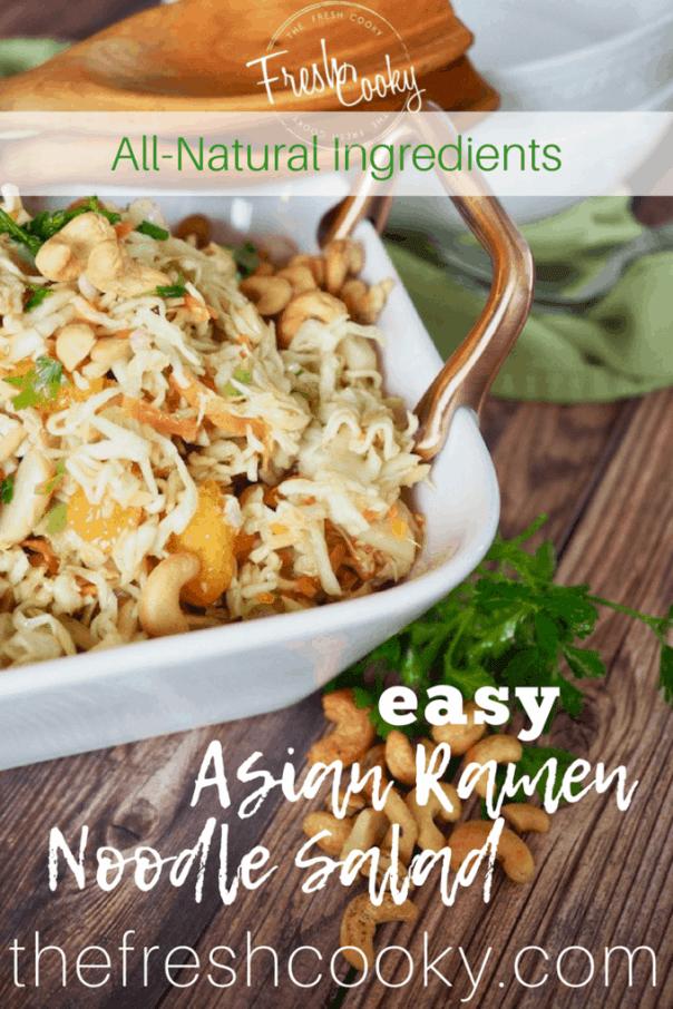 Asian Ramen Noodle Salad | #thefreshcooky #asiansalad #sidesalad #cabbage #ramen #ramensalad #salad #easyrecipe
