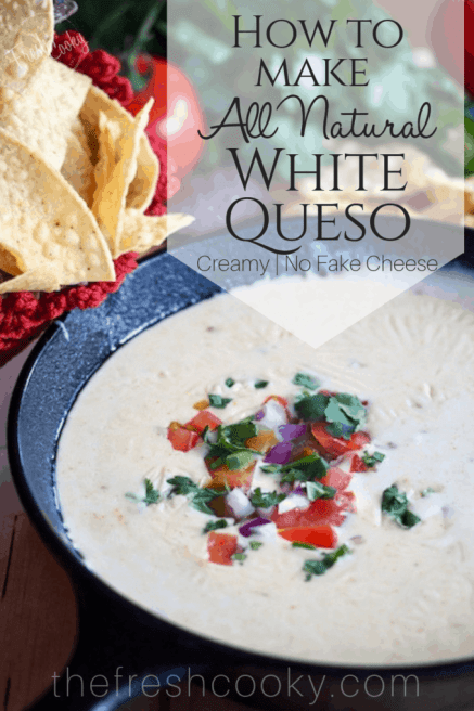 How to Make Creamy White Queso Dip | www.thefreshcooky.com