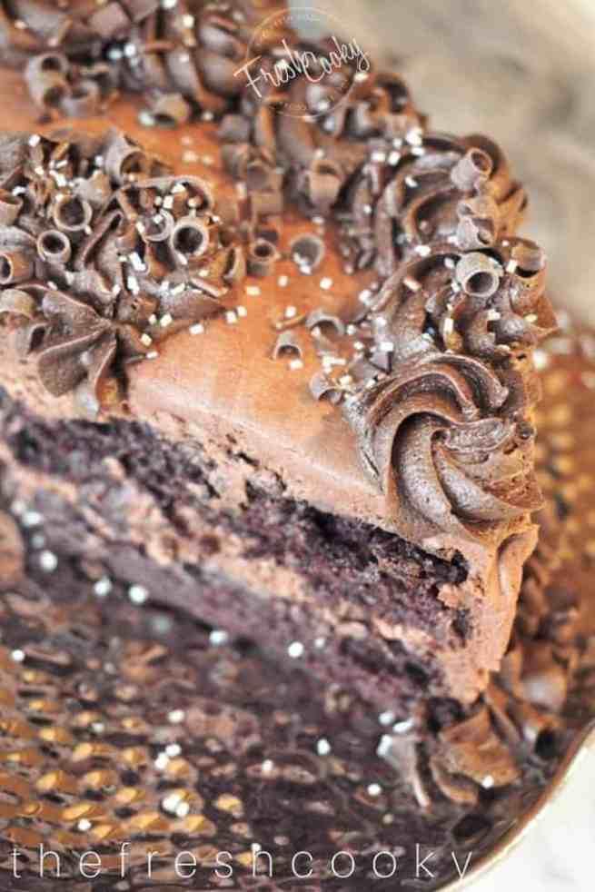 Decorated Chocolate Zucchini Cake   www.thefreshcooky.com