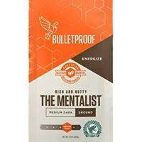 Bulletproof The Mentalist Ground Coffee - Premium Gourmet Medium Dark Roast Organic Beans, Rainforest Alliance certified, Clean Upgraded Ground
