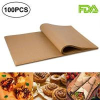 100pcs Unbleached Parchment Paper Baking Liners Sheets, Precut 12×16 inches Non-stick Wax Paper for Cook, Grill, Steam, Pans, Air Fryers, Hamburger Patty Paper