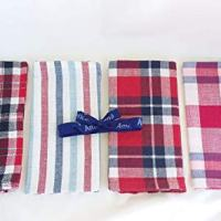 Americana 4 Pack Red White & Blue Plaid and Striped Cloth Napkins