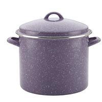 Paula Deen Enamel on Steel Covered Stockpot, 12-Quart, Lavender Speckle