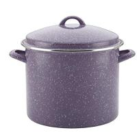 Paula Deen Enamel on Steel Covered Stockpot, 12-Quart, Lavender Speckle