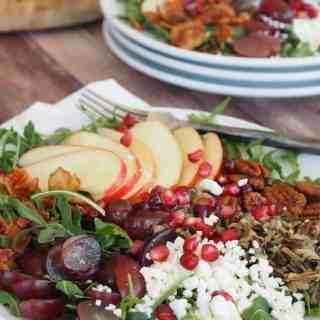 Heart Wild Rice Harvest Salad | www.thefreshcooky.com