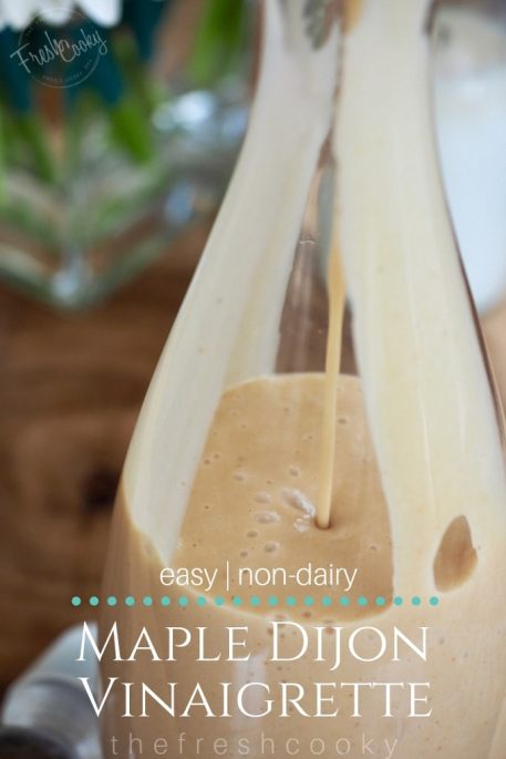 Maple Dijon Vinaigrette Salad Dressing | www.thefreshcooky.com