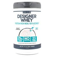 Designer Whey Protein Meal Powder, Vanilla Bean, 1.72 Pound, Non GMO