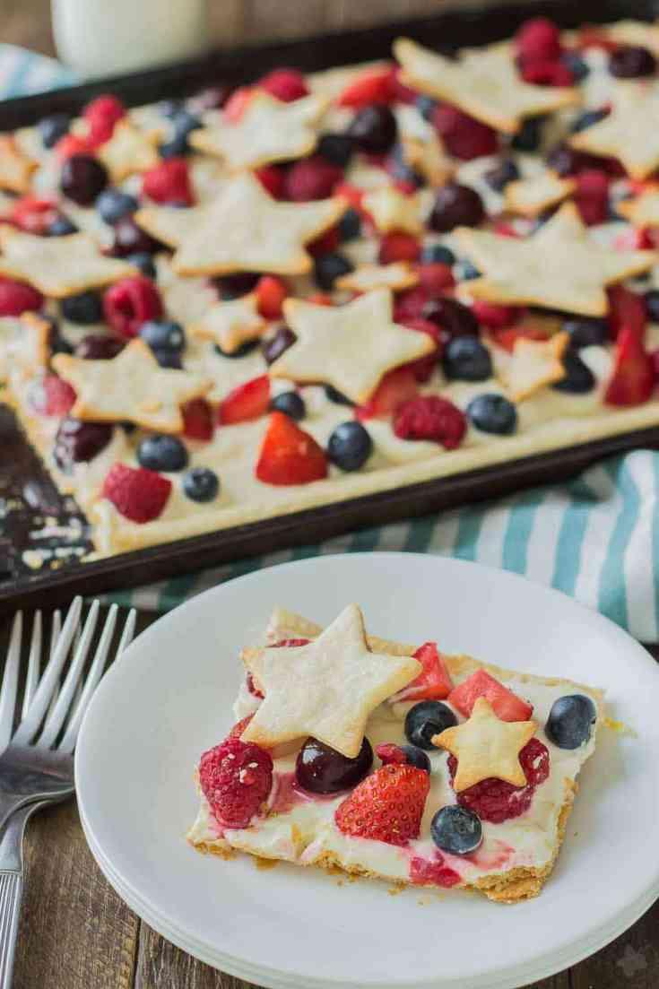 Star Spangled Berry Sheet Pan Pie