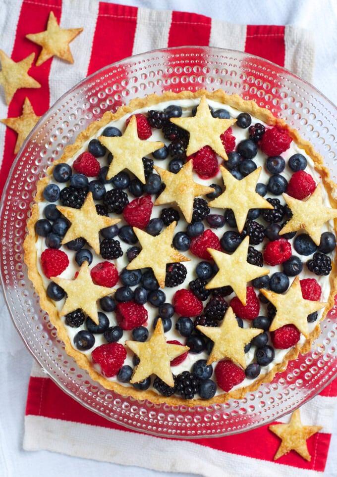 Star Spangled Berry Tart