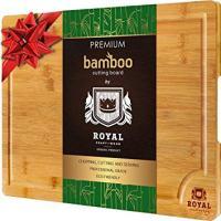 EXTRA LARGE Organic Bamboo Cutting Board 18 x 12