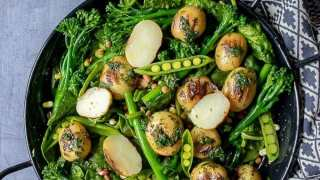 The Best Broccoli Salad with Potatoes and Herbs