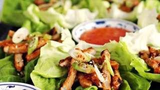 Korean BBQ Style Spicy Pork Lettuce Wraps
