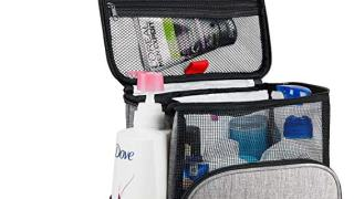 Hanging Toiletry Bag, Shower Caddy Tote Bag (Updated Version, Full Size Bottle Compatible)