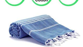 Realgrandbazaar Pestemal Turkish Towel %100 Cotton - Pre Washed Soft 39 x 69 Peshtemal, Beach,
